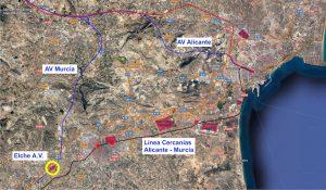 situación actual cercanías Alicante - Elche - Murcia