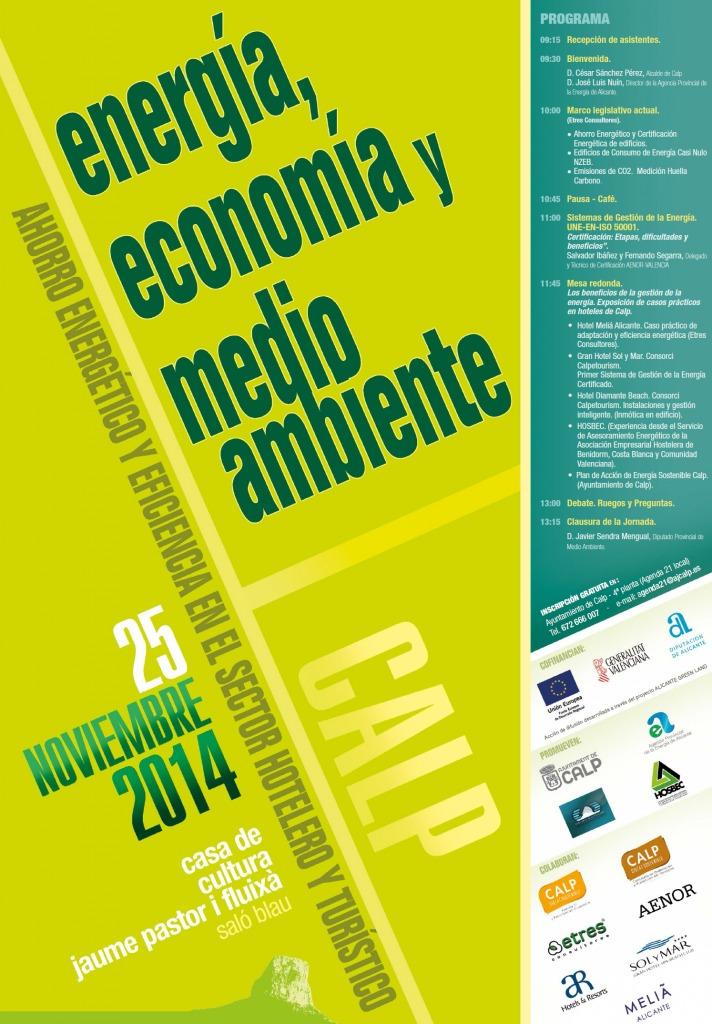 Energía, Economía y Medio Ambiente. Jornada para la eficiencia energética en el sector hotelero y turísitico.