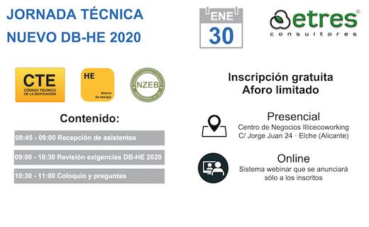 Jornada técnica nuevo DB-HE 2020