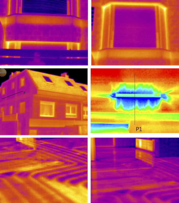 ensayo blower door termografías